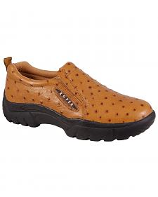 Roper Performance Slip-On Ostrich Print Casual Shoes - Wide