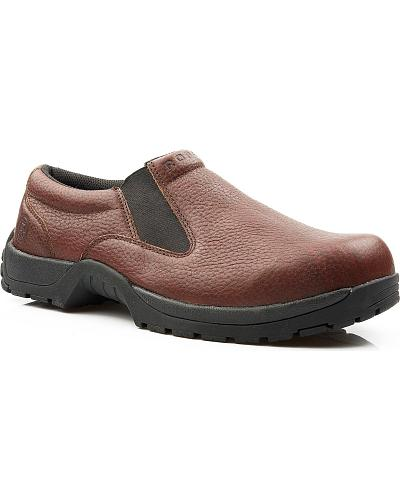 Roper Performance Lite Gore Slip-On Casual Shoes Wide Western & Country 09-020-1650-1548 BR