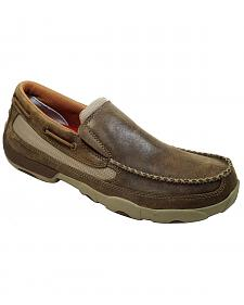 Twisted X Driving Slip-On Moccasin Shoes - Round Toe