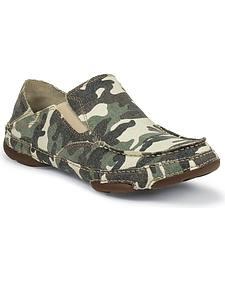Tony Lama Camo Canvas Slip-On Casual Shoes