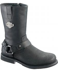 Harley Davidson Josh Motorcycle Boots - Round Toe