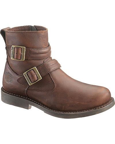 Harley Davidson Dennis Motorcycle Boots Round Toe Western & Country D93163