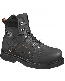 Harley Davidson Men's Pete Lace-Up Boots - Steel Toe