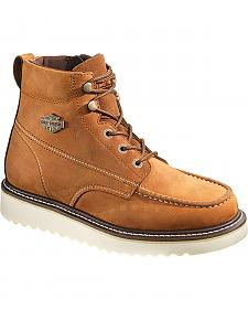 Harley Davidson Men's Brown Beau Lace-Up Boots