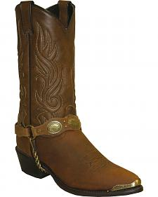 Sage by Abilene Black with Concho Strap Western Boots