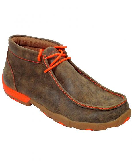 twisted x s leather ankle driving shoes sheplers