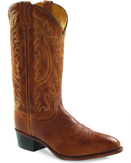 Old West Men's Western Cowboy Boots - Round Toe