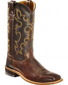 Old West Men's Brown Western Cowboy Boots - Square Toe