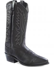 Old West Men's Black Polanil Western Cowboy Boots - Medium Toe