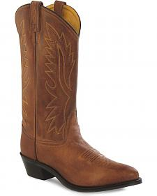 Old West Men's Brown Polanil Western Cowboy Boots - Medium Toe