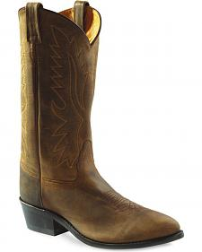 Old West Men's Distressed Polanil Western Cowboy Boots - Medium Toe