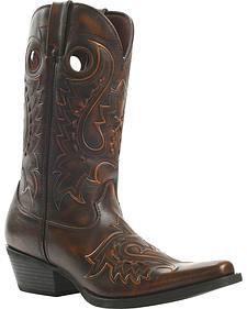 Durango Gambler Jack Western Boots - Square Toe