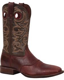 Durango Mahogany Saddle Western Boots - Square Toe