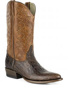Roper Sea Turtle Print Tall Cowboy Boots - Round Toe