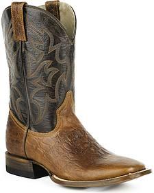 Roper Sea Turtle Print Tall Cowboy Boots - Square Toe