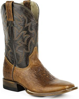 Roper Sea Turtle Print Tall Cowboy Boots - Square Toe