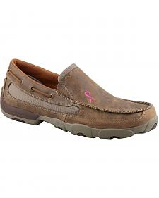Twisted X Men's Tough Enough to Wear Pink Slip-On Driving Mocs