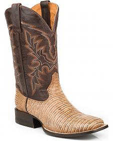 Roper Men's Faux Teju Lizard Mad Dog Goat Cowboy Boots - Square Toe