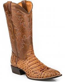 Roper Men's Faux Caiman & Mad Dog Cowboy Boots - Medium Toe