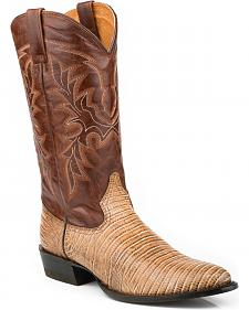 Roper Men's Faux Teju Lizard Mad Dog Goat Cowboy Boots - Medium Toe