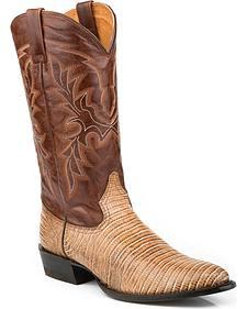 Roper Men's Faux Teju Lizard Mad Dog Goat Cowboy Boots - Medium Toe