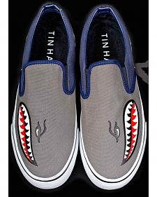 Tin Haul Men's Street Shark Bomber Canvas Slip On Shoes