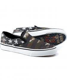 Tin Haul Men's 'Merica Canvas Slip On Shoes