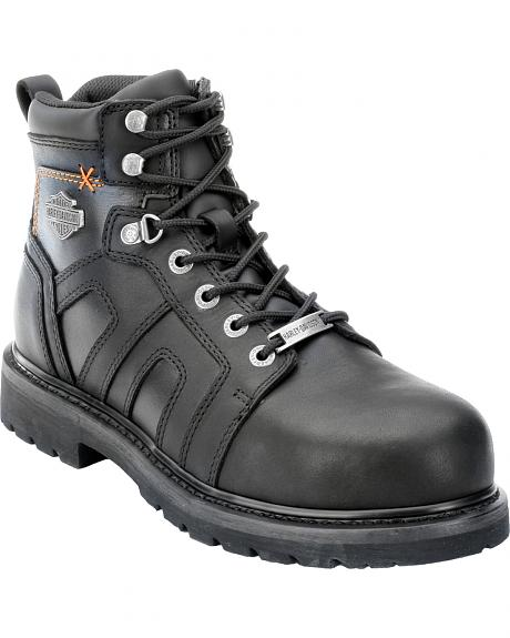 Harley Davidson Men's Chad Steel Toe Lace-Up Boots