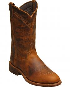 Abilene Boots Men's Stockman Western Boots - Round Toe