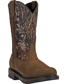 Laredo Hammer Camo Waterproof Boots - Round Toe
