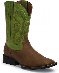 Justin Farm and Ranch Men's Synthetic Cowboy Boots - Square Toe
