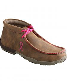 Twisted X Men's Tough Enough to Wear Pink Driving Mocs