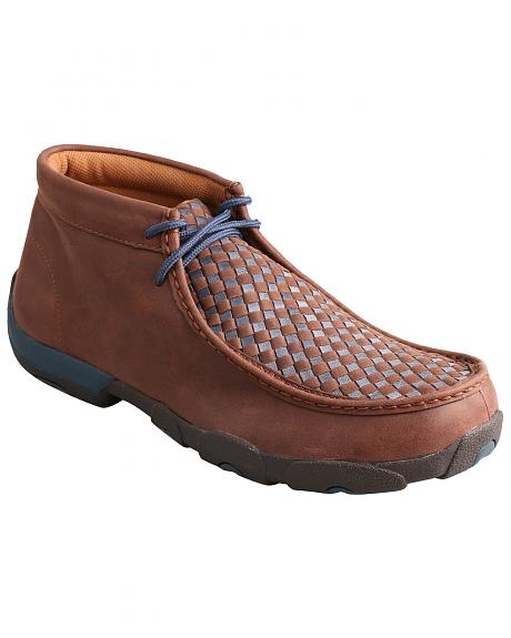 Twisted X  Men's Brown Woven Driving Mocs