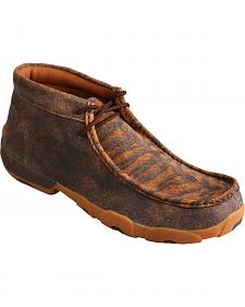 Twisted X Men's Distressed Tiger Leather Driving Mocs
