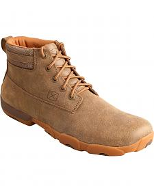 Twisted X  Men's Lace-Up Brown Driving Mocs