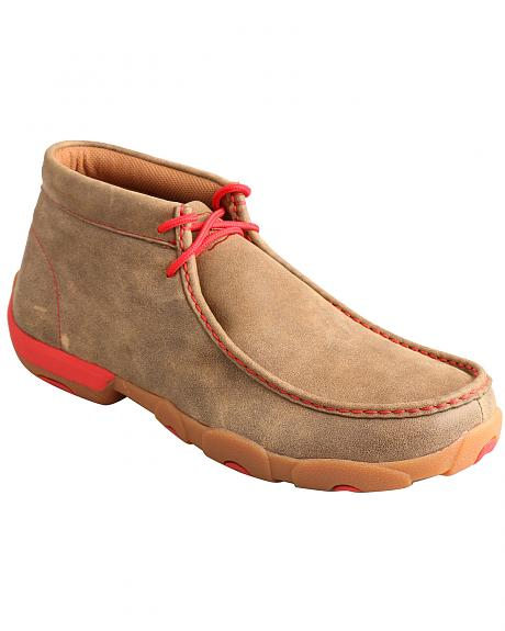 Twisted X Men's Brown and Red Driving Mocs