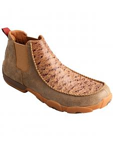 Twisted X Men's Ostrich Leather Driving Mocs