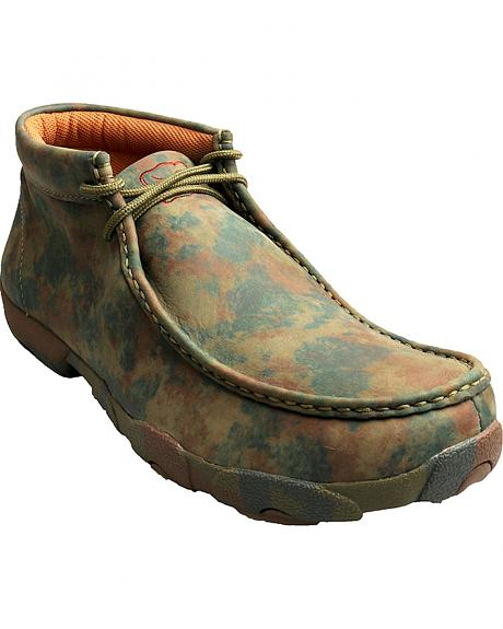 Twisted X  Men's Camo Leather Driving Mocs