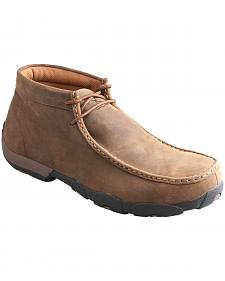 Twisted X Men's Brown Waterproof Driving Mocs
