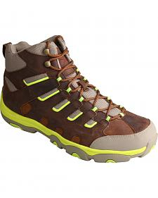 Twisted X Men's Hiker Brown and Neon Lace-Up Boots