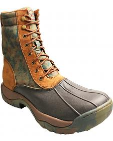 Twisted X Waterproof Lace-Up Camo Rubber Boots - Round Toe