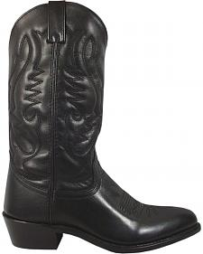 Smoky Mountain Men's Black Denver Cowboy Boots - Round Toe