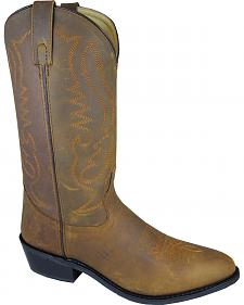 Smoky Mountain Men's Distressed Denver Cowboy Boots - Round Toe
