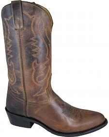 Smoky Mountain Men's Brown Denver Cowboy Boots - Round Toe
