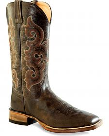 Old West Men's Brown Western Boots - Square Toe