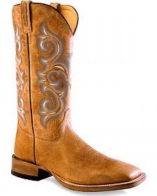 Old West Men's Golden Tan Western Boots - Square Toe