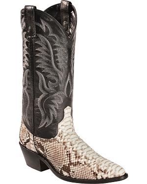 Laredo Key West Python Cowboy Boots - Medium Toe