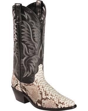 Laredo Key West Python Cowboy Boots - Medium Toe