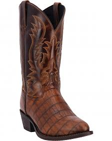 Dan Post Men's Breakaway Croc Print Cowboy Boots - Round Toe