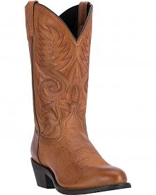 Laredo Men's Tan Riley Western Boots - Round Toe